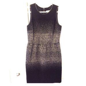 NEW MICHAEL KORS wool & leather dress